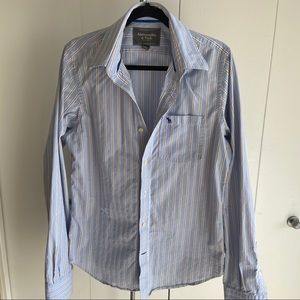 ABERCROMBIE FITCH Muscle Mens Button Up Shirt